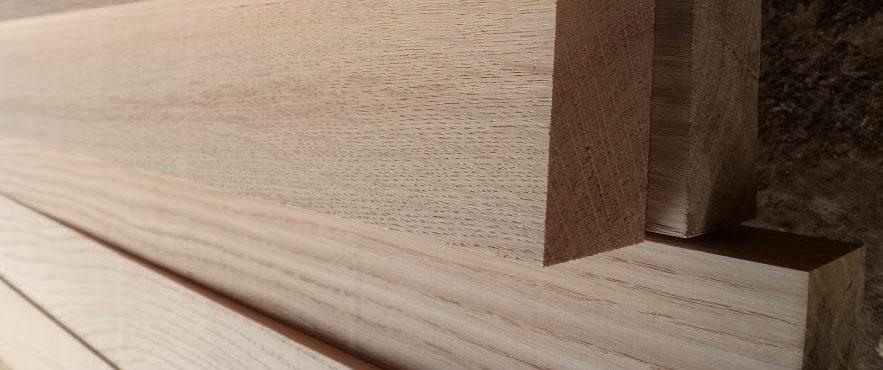dubové latě hoblované